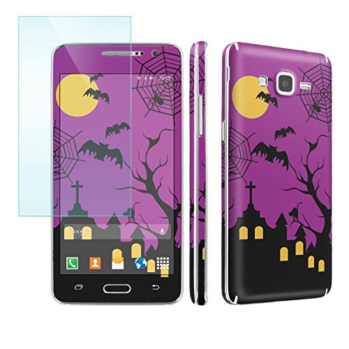 Galaxy [GRAND Prime] Phone Skin - [SkinGuardz] Full Body Scratch Proof Vinyl Decal Sticker with [WallPaper] [Screen Protector] - [Halloween] for Samsung Galaxy [GRAND Prime] G530]()