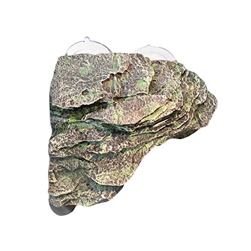 (Fitlyiee Turtle Dock Climb Stone Resin Basking Ramp Turtle Basking for Aquarium Fish Tank)