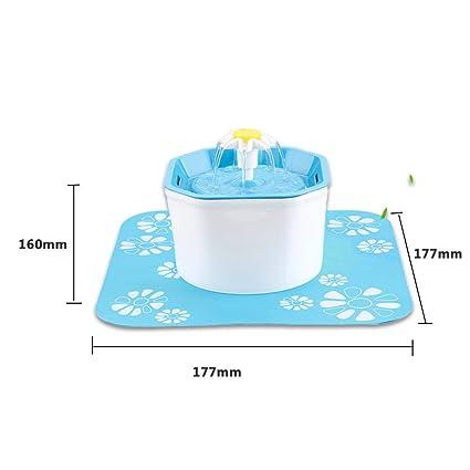 Juman634 Fuente de Agua para Mascotas Dispensador de Agua Forma de Flor Ultra silencioso Eléctrico Automático