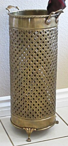 Umbrella Stand Solid Brass Openwork 114AB