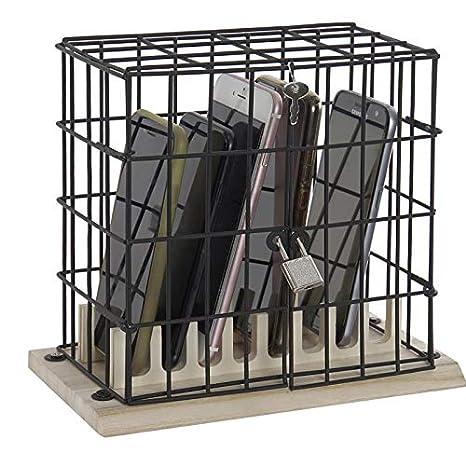 Hogar y Mas Jaula Metal Negra para Guardar los Telefónos Moviles ...