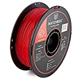 3D Printer - HATCHBOX 3D PLA-1KG1.75-RED PLA 3D Printer Filament, Dimensional Accuracy +/- 0.05 mm, 1 kg Spool, 1.75 mm, Red