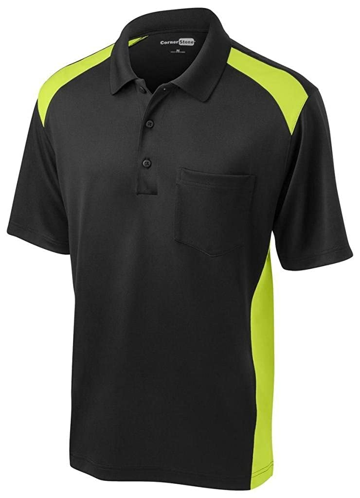 Cornerstone Mens Moisture Wicking Pocket Polo Shirt