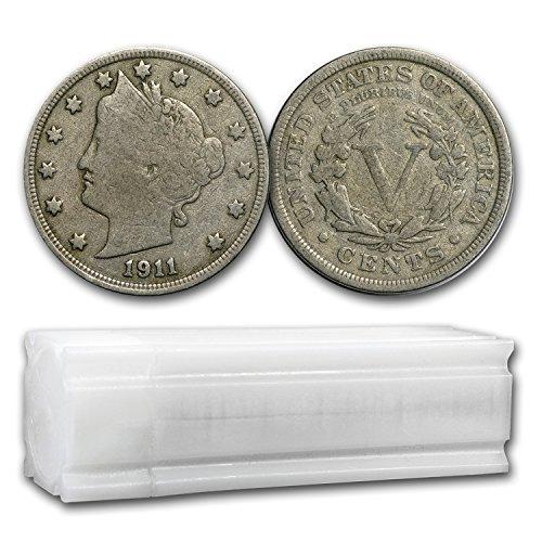 Liberty Head Nickel (1883 1912 Liberty Head V Nickels 40-Coin Roll Avg Circ Nickel Very Good)