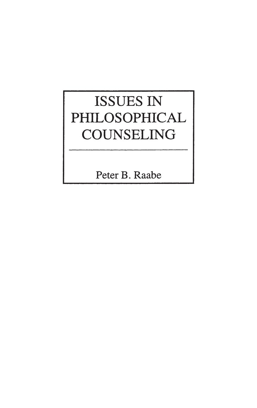 Issues in Philosophical Counseling