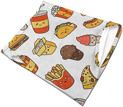 フェイスカバー Uvカット ネックガード 冷感 夏用 日焼け防止 飛沫防止 耳かけタイプ レディース メンズ Cute Sandwich Hamberg Fast Food