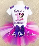 Minnie Mouse 1st Birthday Purple Chevron Outfit Custom