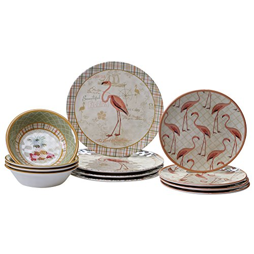 Certified International 12 Piece Floridian Melamine Dinnerwa