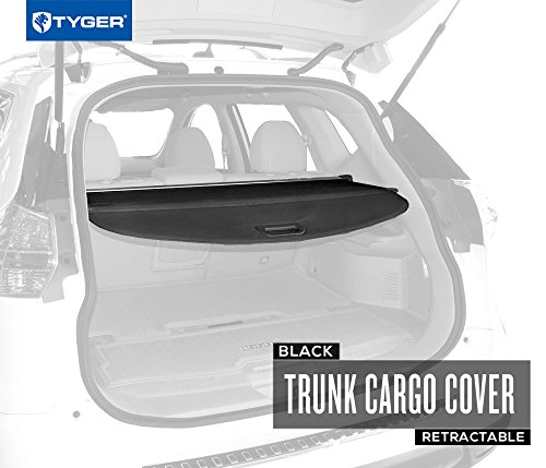 TYGER Black Retractable SUV Rear Trunk Cargo Cover Shield Fits 14-15 Nissan Rogue (SV models only)