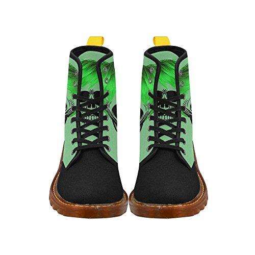 Leinterest Rolig Skalle, Grönt Martin Stövlar Mode Skor För Kvinnor