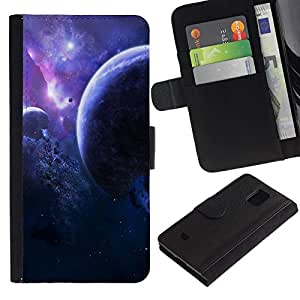 All Phone Most Case / Oferta Especial Cáscara Funda de cuero Monedero Cubierta de proteccion Caso / Wallet Case for Samsung Galaxy S5 Mini, SM-G800 // Space Planet Galaxy Stars 2