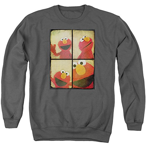 A&E Designs Elmo Photo Booth Sweatshirt, Charcoal, 2XL
