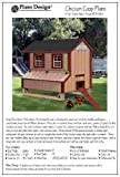 gable roof design 5'x6' Chicken Coop / Hen House Plans, Gable Roof Style (How to build a backyard chicken coop, design # 90506G)