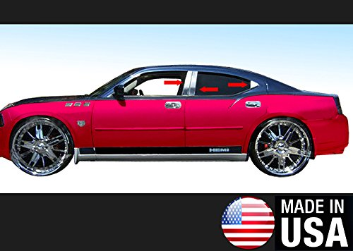 Made in USA! Fit 05-2010 Dodge Charger 6 PC Stainless Steel Chrome Pillar Post Trim (Pillar Stainless Dodge Charger Steel)