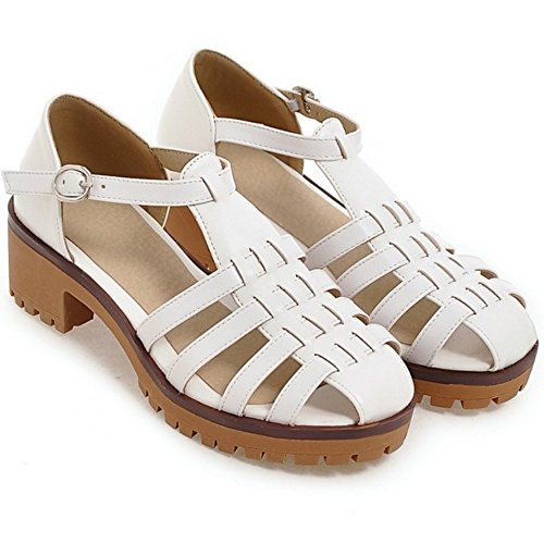 Coolcept Women Fashion Heel Sandals Gladiator White 2S8Ifjby1