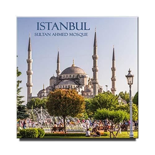 Istanbul Square Fridge Magnet Turkey Travel Souvenir Sultan Ahmed - Mosque Ahmed Sultan