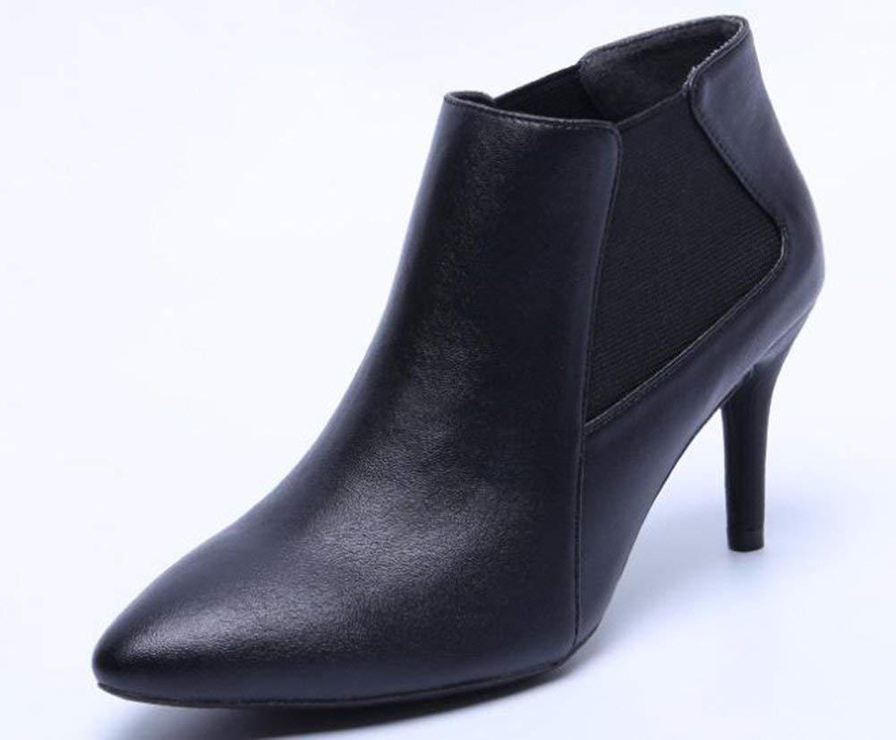 Oudan die Stiefel mit High Heels (Farbe   Schwarz, Größe   37)