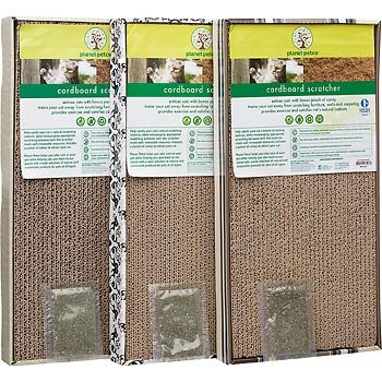 Planet Petco Double Wide Cardboard Scratcher for Cats, My Pet Supplies