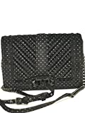 Rebecca Minkoff Love Small Metallic Polka Dot Velvet Crossbody black