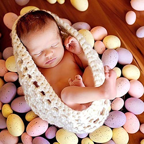 - Tinkin Light Crochet Baby Bowl Photography Props Newborn Knitted Hat Pod Sleeping Bag Handmade Knitted 0-6 Months