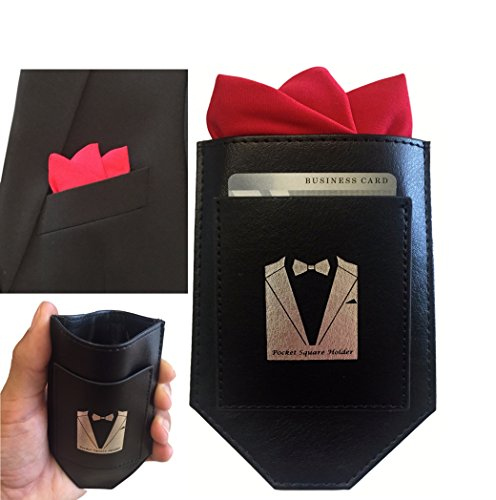 Perfect Pocket Square Holder made of High Quality Leather Perfect for Fashionable Suits, Sports Coats, Tuxedos, and Vests
