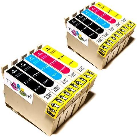 10x Epson Stylus Sx110 Kompatible Druckerpatronen Cyan Magenta Gelb Schwarz Patronen Mit Neuesten Chip Bürobedarf Schreibwaren