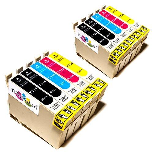 10x Epson Stylus SX218 Kompatible Druckerpatronen - Cyan / Magenta / Gelb / Schwarz - PATRONEN MIT NEUESTEN CHIP