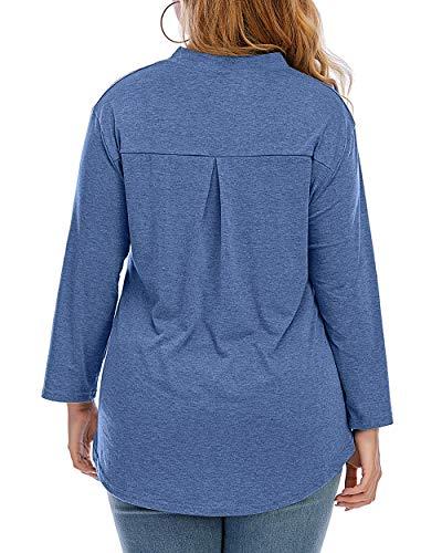 CIZITZZ Womens Leopard Printing Short Sleeve Tops V Neck T Shirt Casual Summer Tops,Blue,3X