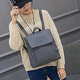 DDLBiz Women Girl Leather Rucksack Shoulder Bookbags School Bag Satchel Travel Backpack (Grey)