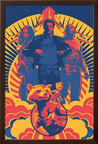 Star-Lord Framed Art Print Camino Black 2 AllPosters Guardians of The Galaxy Vol