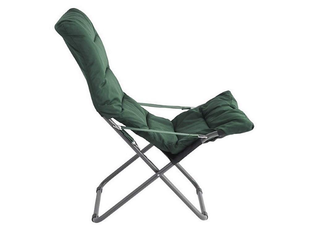 Soft Fiam Tumbona Estructura Acero  Color Antracite Acolchados Verde Oscuro Art 127S ANVS
