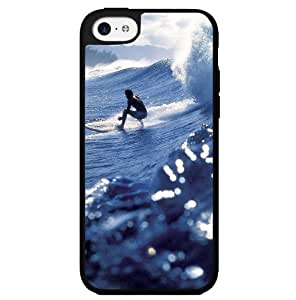 Surfing Blue Waves Hard Snap on Phone Case (iPhone 5c)