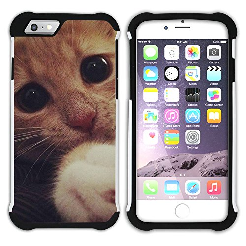 STPlus Gato en una caja Animal Doble Capa de Protección Rígido + Flexible Silicona Carcasa Funda Para Apple iPhone 7 Plus / iPhone 8 Plus #11