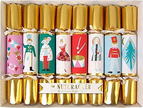 Meri Meri Set of 8 Nutcracker Christmas Crackers 45-1915 (Musical Christmas Crackers)