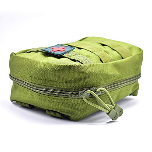 Yuan Ou Trousse de Secours Pouch Travel Green First Aid Kit Military Kit Medical Quick Pack 4