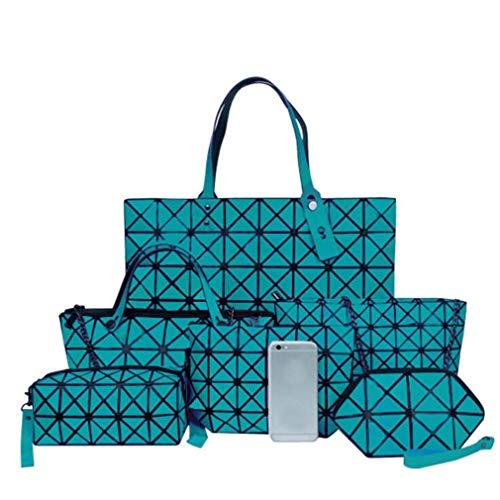 Motivo Lattice Borse Di Geometrico In 42cmx32cm Silver Da 6 Green Donna Set Euklaf Con z4w6qU0