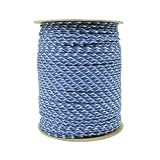 SGT KNOTS Paracord 550 Type III 7 Strand - 100% Nylon Core and Shell 550 lb Tensile Strength Utility Parachute Cord for Crafting, Tie-downs, Camping, Handle Wraps (Blue Camo - 100 ft)