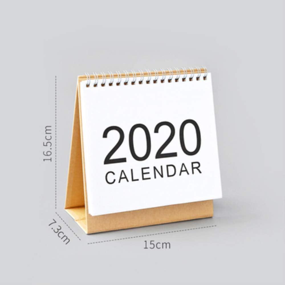 2020 Standing Desk Calendars Month Desktop Stand Up Calendar Wirebound Table Standup Simple Design Monthly Scheduler 16 Months from Sep 2019 to Dec 2020 S