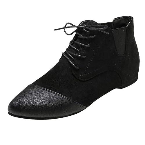 Siswong Chaussures Plats Femme, Rétro Bout Pointu
