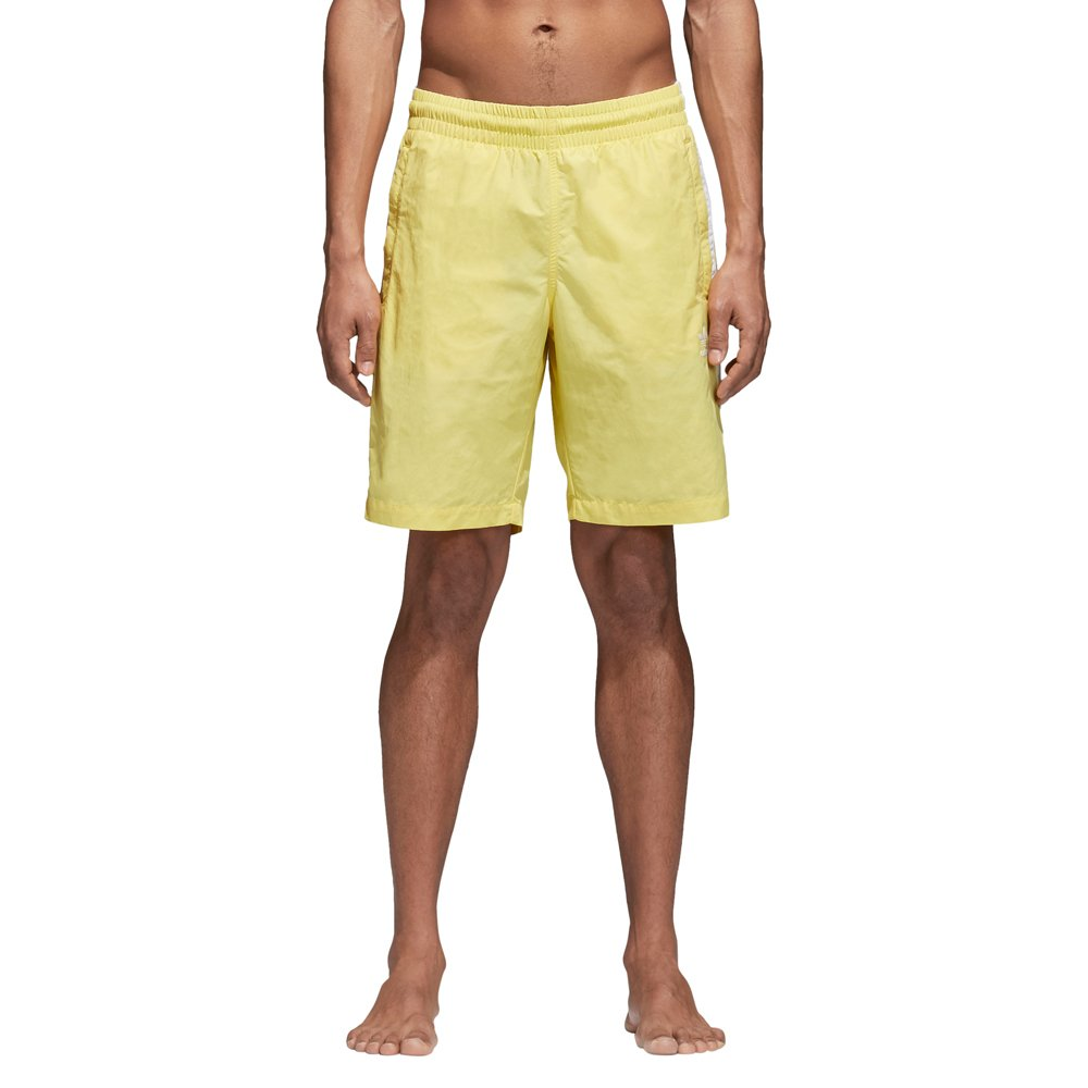 adidas 3-Stripes Swim Pantalones Cortos, Hombre, LIMAOI, S
