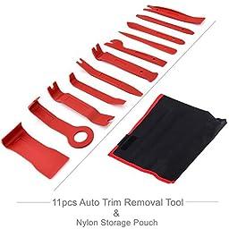Orion Motor Tech 11-Piece Nylon Pry Auto Trim Door Dash Panel Window Molding Upholstery Clip Removal Tool Kit