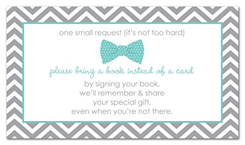48 Bow Tie Bring A Book Card (Teal)