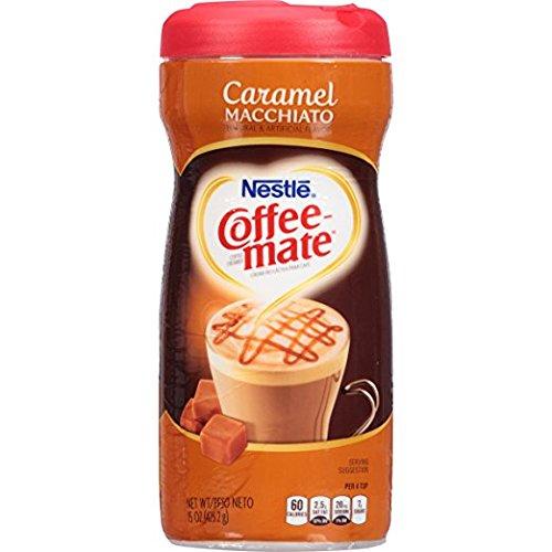 Nestle Coffee-Mate CARAMEL MACCHIATO Coffee Creamer (2-PACK) (NET WT 15 OZ EACH) Coffee Mate Caramel Coffee Creamer