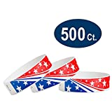 WristCo Star Stream USA 3/4'' Tyvek Wristbands - 500 Pack Paper Wristbands For Events