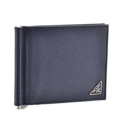 PRADA(プラダ) 財布 メンズ SAF.TRIANGOLO 2つ折り財布 BALTICO 2MN077-QHH-216 [並行輸入品] B07FPML2PX