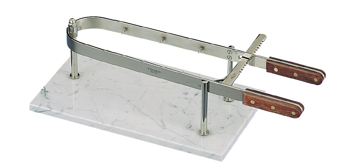 Fischer Bargoin French De Luxe Ham Holder with Marble Tray