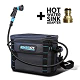 RinseKit Portable Outdoor Shower | 2-3 gallons of...