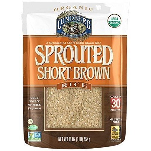 Lundberg Organic Sprouted Short Grain Brown Rice, 1 Pound - 6 per case.
