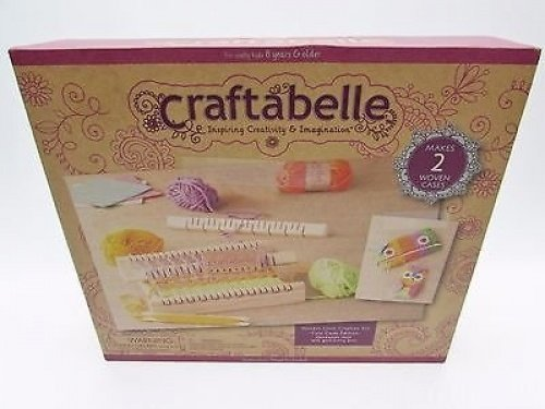 Craftabelle Wooden Loom Creation Kit makes 2 woven Cases by Craftabelle