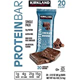 Kirkland Signature Protein Bars Chocolate Brownie 2.12 oz, 20-count